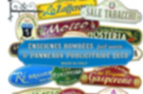 enseigne vintage | enseigne rétro | panneaux publicitaire rétro | enseigne en céramiqu vintage