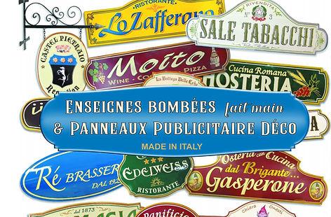 enseigne vintage   enseigne rétro   panneaux publicitaire rétro   enseigne en céramiqu vintage