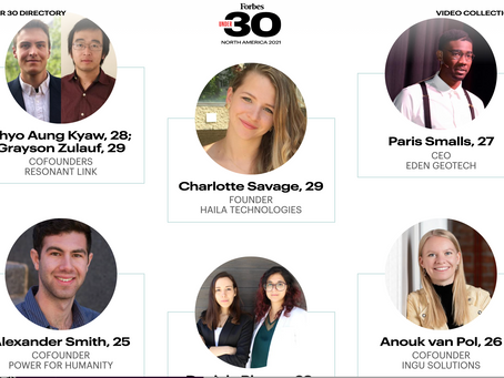 Haila's founder and Chief innovation officer joins 2021 edition of forbes 30 under 30