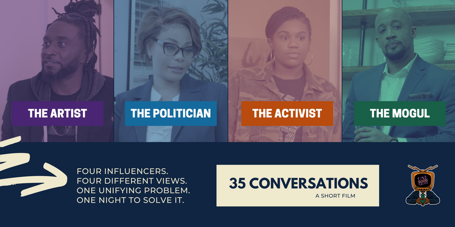 """35 Conversations features some strong language and brief depictions of violence. There is no formal rating from the MPAA, but would likely receive a """"PG-13"""" rating for language and violence if submitted."""