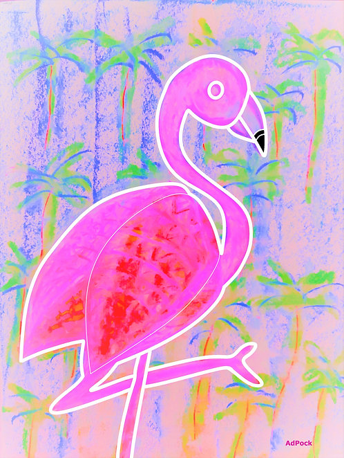 Flamingos and Palm Trees cards