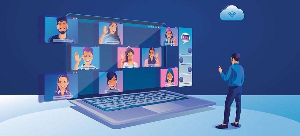 Online video møte, presentasjon eller konferanse