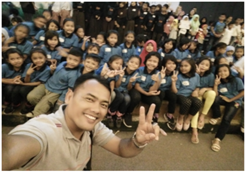 SAJA JUARA !English Art Lab competition @ Universitas Indonesia