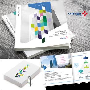 VINCI // Création d'un ensemble de supports pour un Mémoire appel d'offres VINCI Facilities