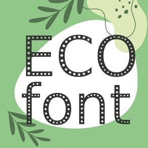 ECO FONT, la typographie Ecologique et Economique