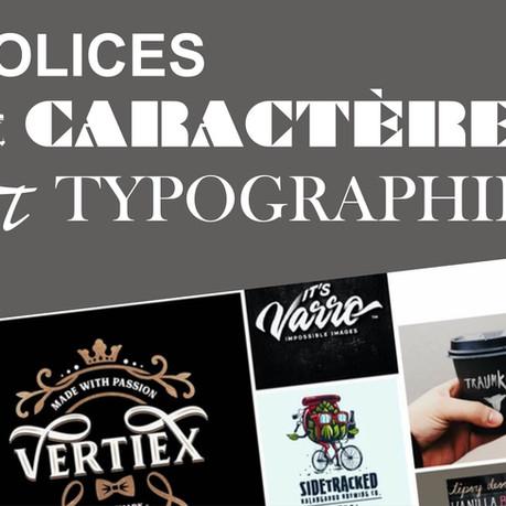 Les polices de caractères en imprimerie