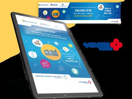 VINCI // Création de bannières WEB, e-invitations pour un salon