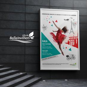 Ville de Ballainvilliers // Création d'affiche pour le Gala de Danse Classique/Jazz