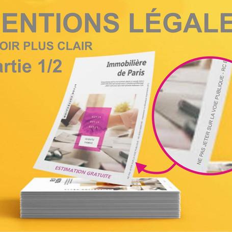 Les mentions légales et obligatoires en imprimerie : part.1