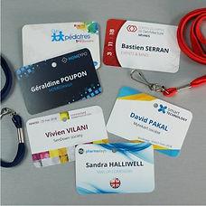 badge personnalisé format carte crédit