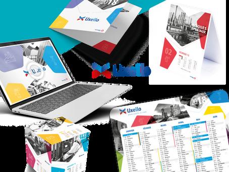 UXELLO // Création de supports de communication de fin d'année