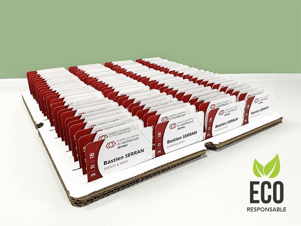 ¨Plateaux badges recyclables ecologiques
