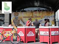 banque accueil carton recyclé écologique