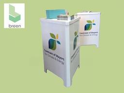Borne accueil carton recyclé écologique