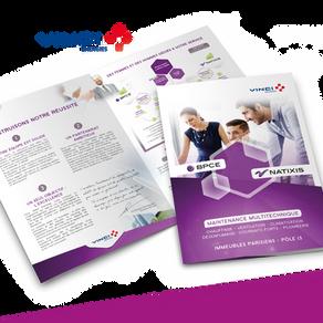 VINCI // Création de plaquette de soutenance en maintenance multitechnique