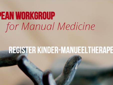 Folder van kinder-manuele therapie