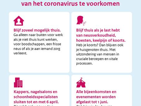Nieuws i.v.m. coronavirus (update 1 juni)