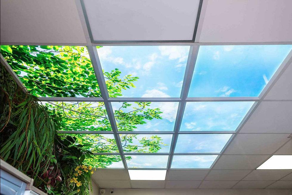 Plafond lumineux Lightmann pour hall d'acceuil