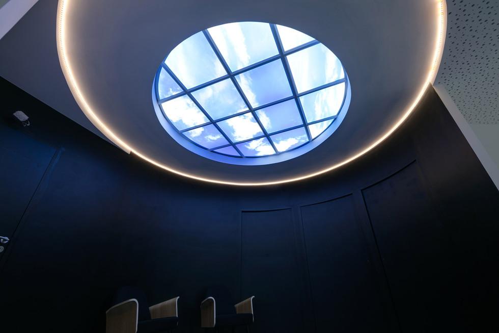 Puit de lumière pour cabinet d'architecte.