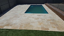 French Pattern Travertine Paving