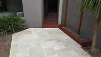 Decking, Travertine paving
