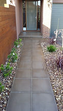 Riverstone Paving with Landscaping