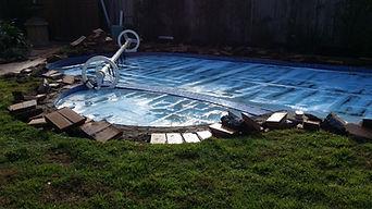 Paving around pool