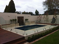 Honed Sandstone Around Pool