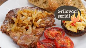 Grilovací seriál: Steak z krkovice s cibulí a saturejkou
