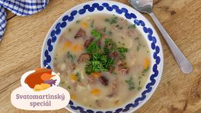 Svatomartinský speciál: Husí polévka neboli kaldoun