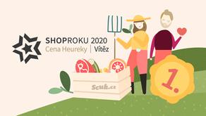 Vyhráli jsme Cenu Heureky v soutěži ShopRoku 2020!