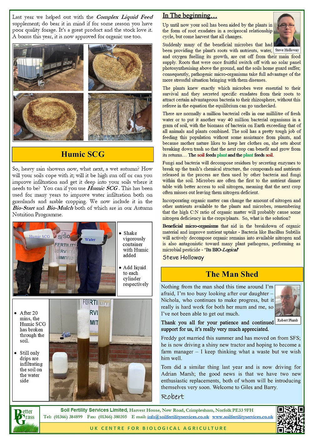 Soil Fertility Services Newsletter