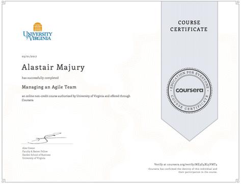 Alastair Majury Managing an Agile Team