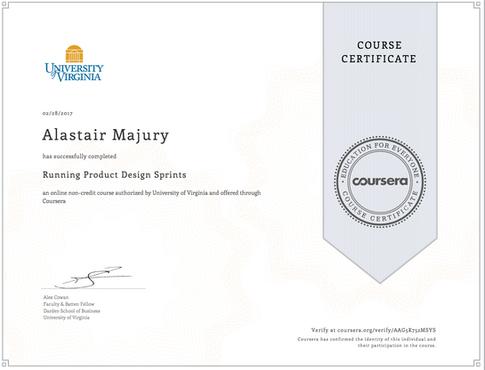 Alastair Majury Running Product Design Sprints