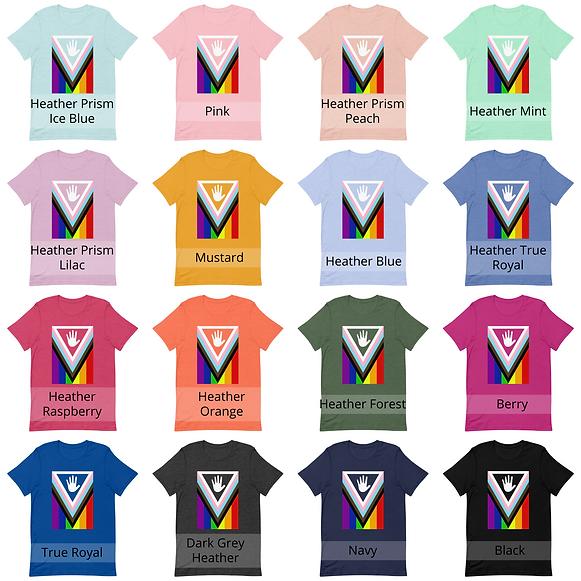 Progress Pride High Five Shirt Mockup Sh