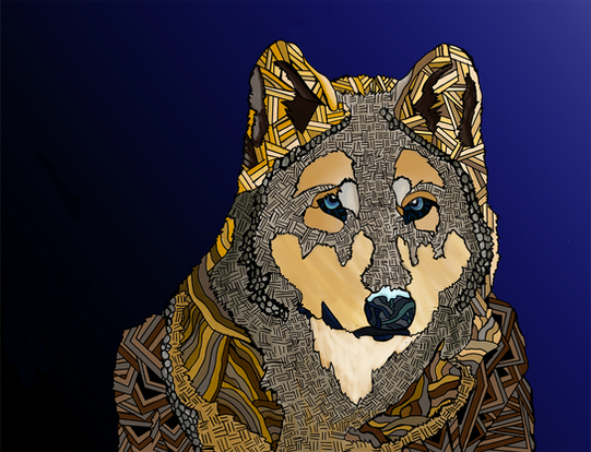 Patterned Wolf