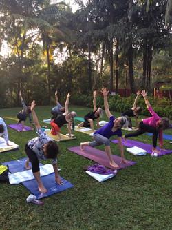 Yoga practice in Jaipur