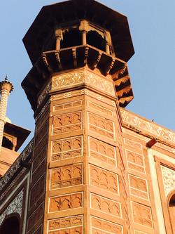 Taj Mahal entrance columns, Agra