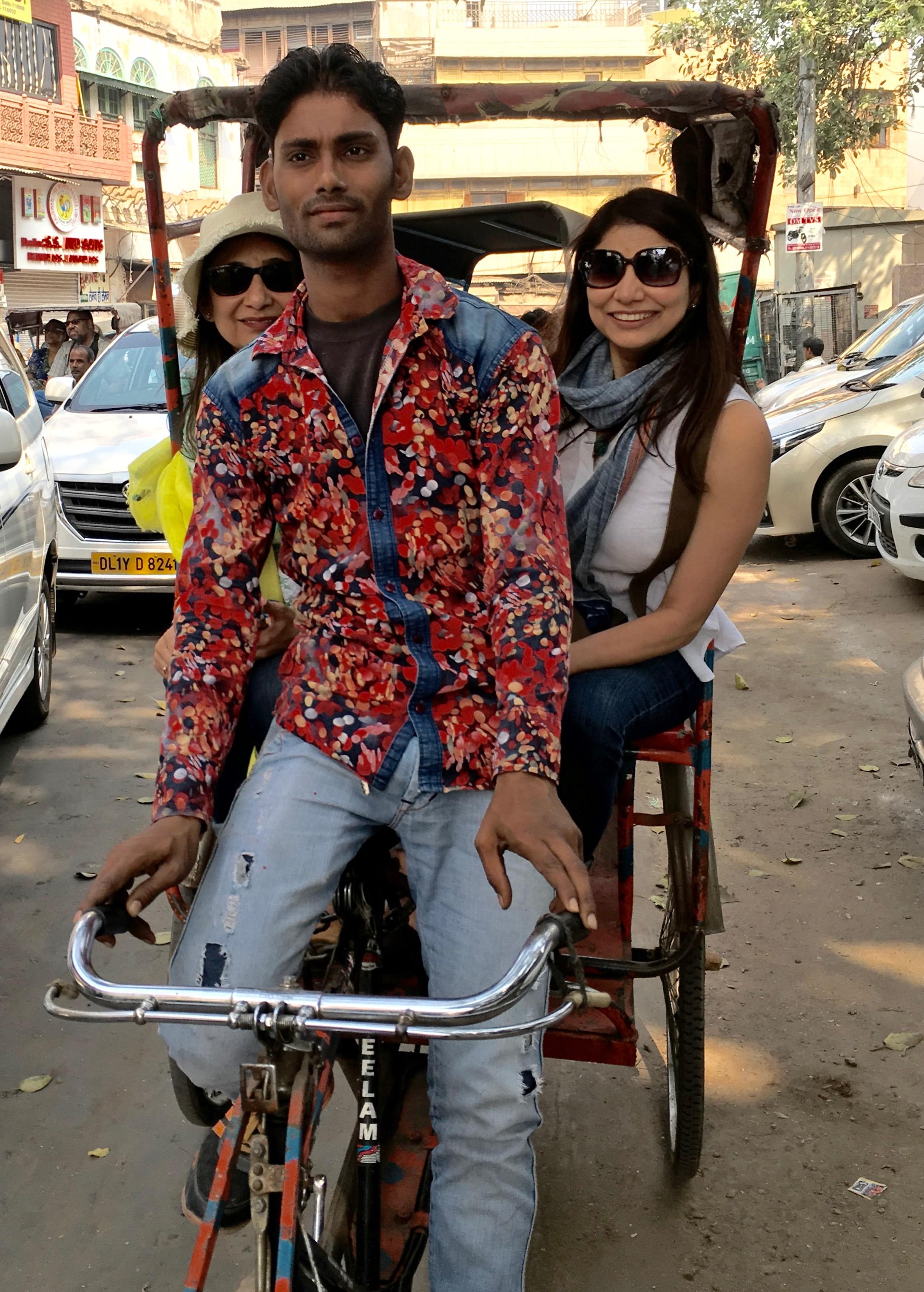 Rickshaw ride, Old Delhi