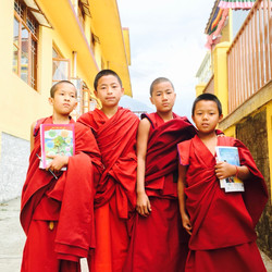Kids at Gyuto Monastery, Dharamshala
