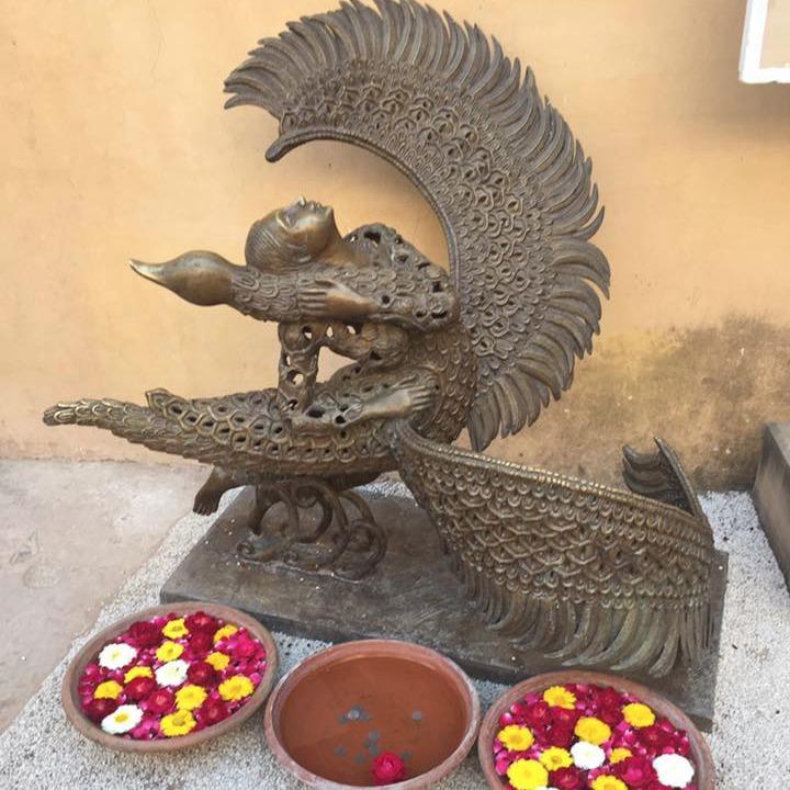 Saraswati statue in City Palace