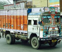 Decorated bus, Jaipur