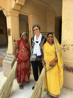 City Palace cleaning staff, Jaipur