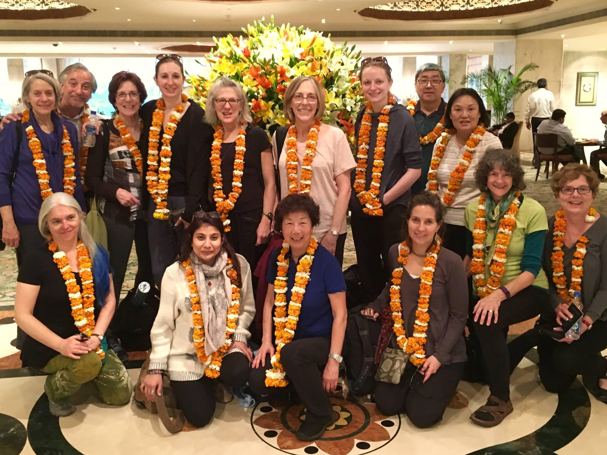 Marigold garland welcome @ Taj