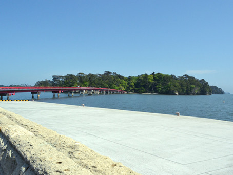 松島の出会い橋「福浦島」@宮城