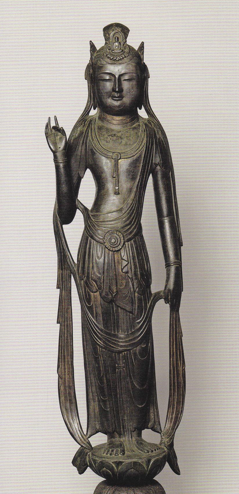 鶴林寺 金銅聖観音立像