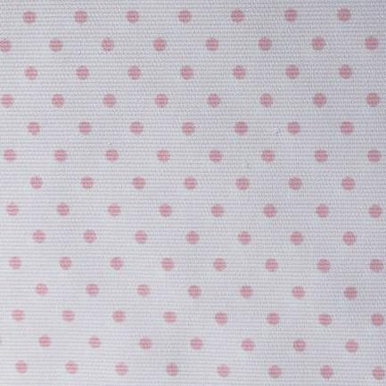 Piqué fondo blanco topo rosa