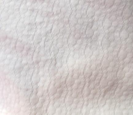 Piqué brocado blanco