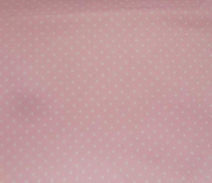 Piqué canutillo rosa topo blanco