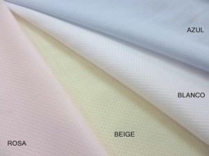 Piqué color pastel: rosa,beige,blanco azul celeste